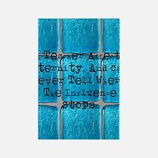 retired teacher tiles blanket Rectangle Magnet