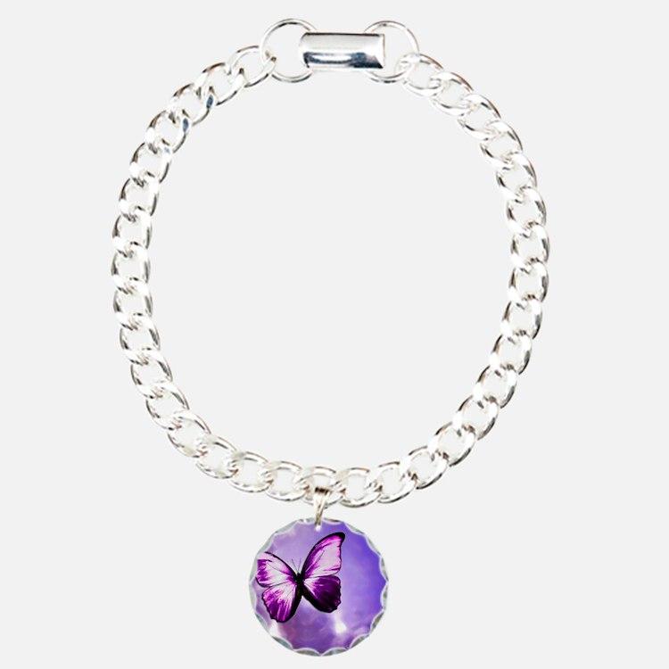 purple majesty Charm Bracelet, One Charm