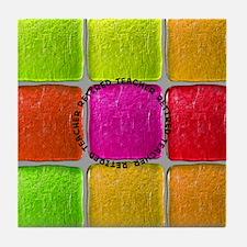 Retired Teacher Tiles PIllow Tile Coaster