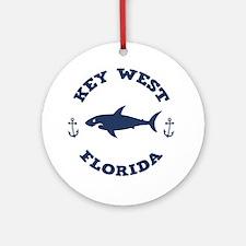 shark-keywest-LTT Round Ornament