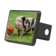Micro pig with strawberrie Hitch Cover