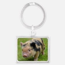 Little Spotty micro pig Landscape Keychain