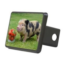 Little micro pig with stra Hitch Cover