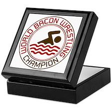 world bacon wrestling Keepsake Box