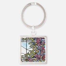 Floral Skylight - Fenway Gate Square Keychain