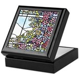 Stained glass Square Keepsake Boxes