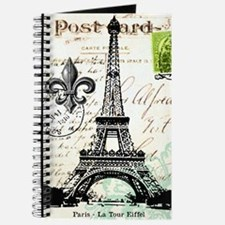 Vintage French Carte Postale Eiffel Tower Journal