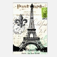 Vintage French Carte Post Postcards (Package of 8)
