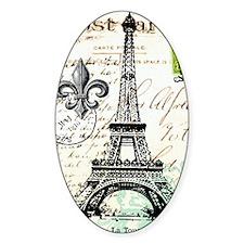 Vintage French Carte Postale Eiffel Decal