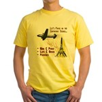 Funny Political T-Shirt (Yellow)