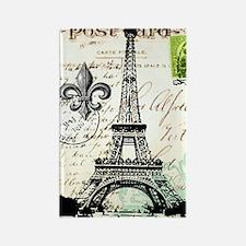Vintage French Carte Postale Eiff Rectangle Magnet