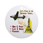 Funny Political Keepsake Ornament (Round)
