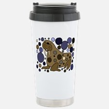 Colorful Walrus Art Travel Mug