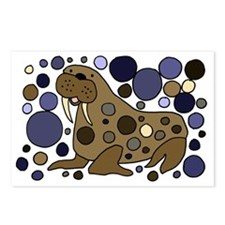 Colorful Walrus Art Postcards (Package of 8)