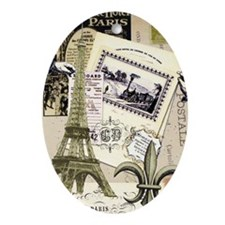 Everything Paris Oval Ornament