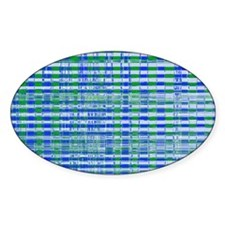 Blue Green Distressed Plaid Pattern Decal
