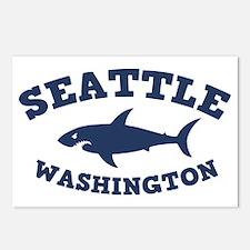 shark-seattle-CAP Postcards (Package of 8)