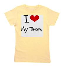 I love My Team Girl's Tee