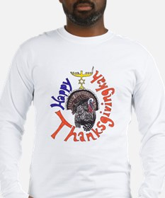 Happy Thanksgivingkah Long Sleeve T-Shirt