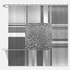 metal art silver Shower Curtain