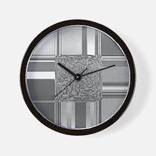 metal art silver Wall Clock