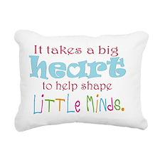 big heart: teacher, Rectangular Canvas Pillow
