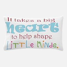 big heart: teacher, Pillow Case