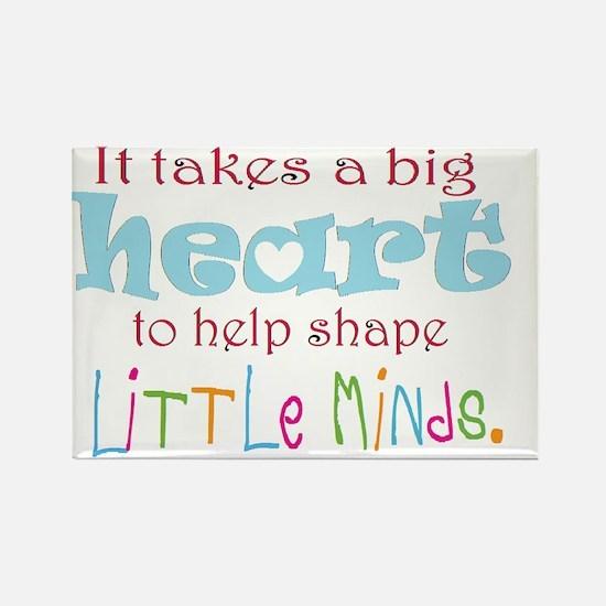 big heart: teacher, Rectangle Magnet