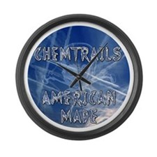 Chemtrails – Still Made in Americ Large Wall Clock