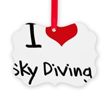 I love Sky Diving Ornament