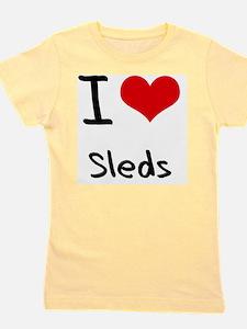 I love Sleds Girl's Tee