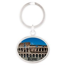 Rome_17.44x11.56_LargeServingTray Oval Keychain