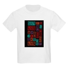 Stamps on Black T-Shirt