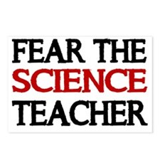 FEAR THE SCIENCE TEACHER  Postcards (Package of 8)