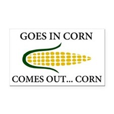 Goes in corn Rectangle Car Magnet