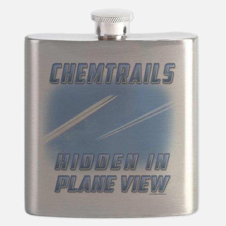 Chemtrails - Hidden in Plane View Flask