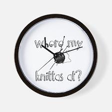 Where my Knittas at? Wall Clock