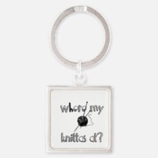 Where my Knittas at? Square Keychain