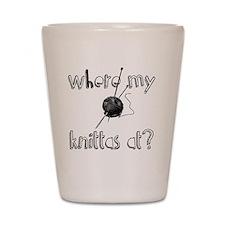 Where my Knittas at? Shot Glass