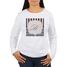 Gold and Navy Damask M T-Shirt