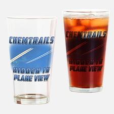 Chemtrails - Hidden in Plane View Drinking Glass