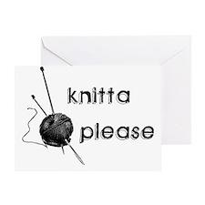 Knitta Please Greeting Card