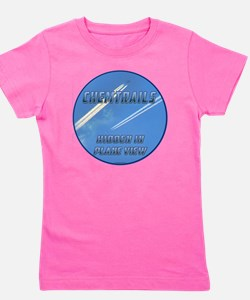 Chemtrails - Hidden in Plane View Girl's Tee