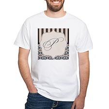 Gold and Navy Damask Monogram P Shirt