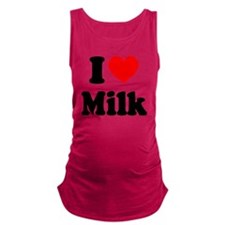 I Heart Milk Maternity Tank Top
