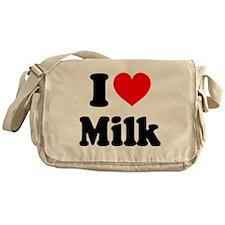 I Heart Milk Messenger Bag