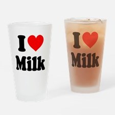 I Heart Milk Drinking Glass