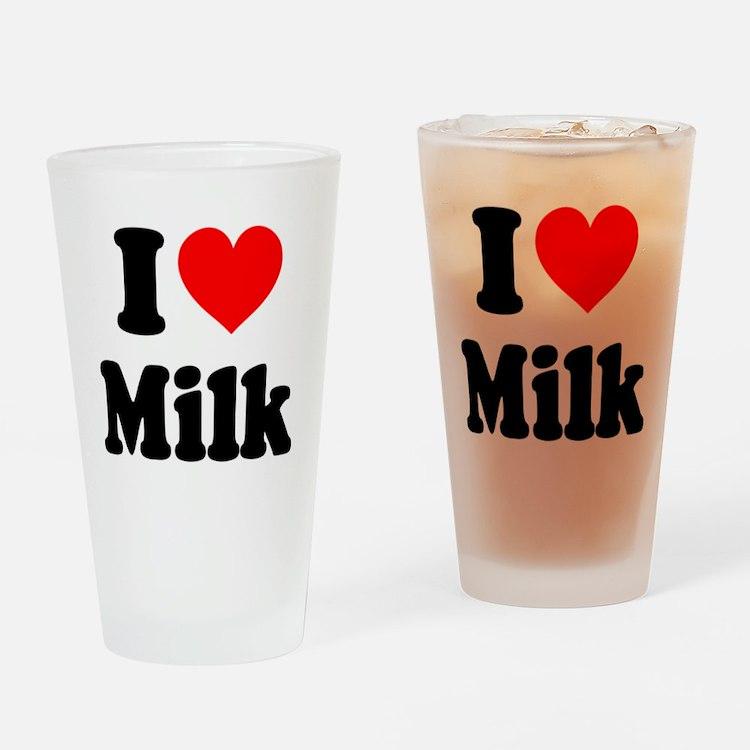 I Heart Milk Drinking Glass