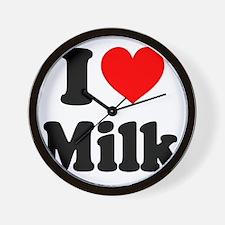 I Heart Milk Wall Clock