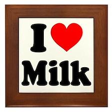 I Heart Milk Framed Tile